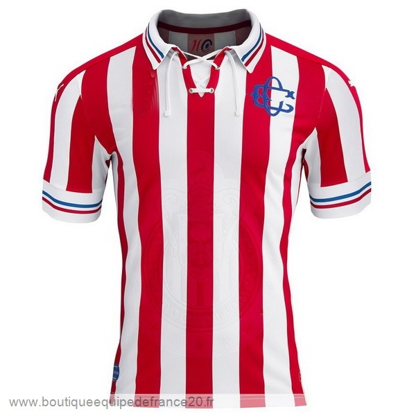 Maillot Sport Domicile Maillot CD Guadalajara 100th Blanc Rouge