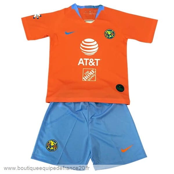 Maillot Sport Third Conjunto De Enfant Club América 2019 2020 Orange