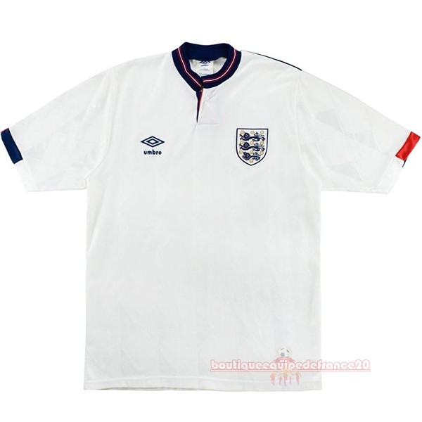 Maillot Sport Domicile Maillot Angleterre Rétro 1989 Blanc