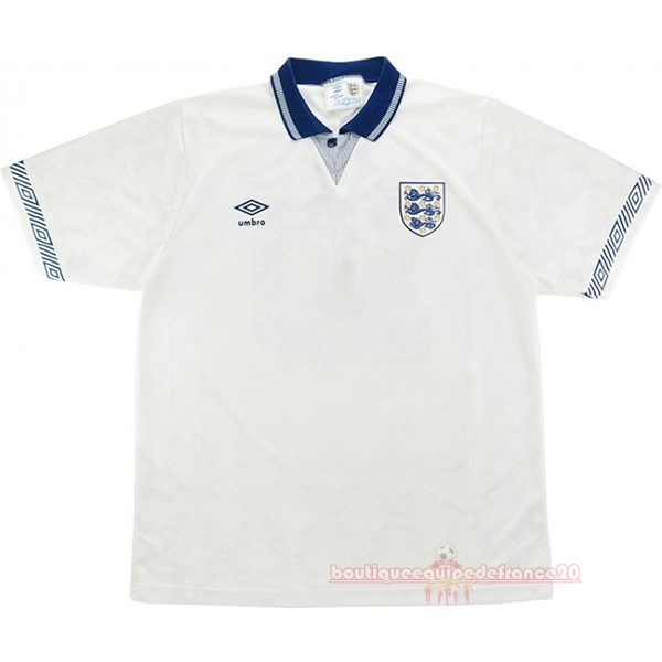 Maillot Sport Domicile Maillot Angleterre Rétro 1990 Blanc