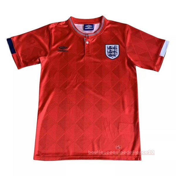 Maillot Sport Exterieur Maillot Angleterre Rétro 1989 Rouge