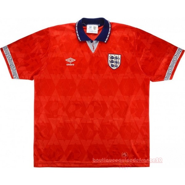 Maillot Sport Exterieur Maillot Angleterre Rétro 1990 Rouge