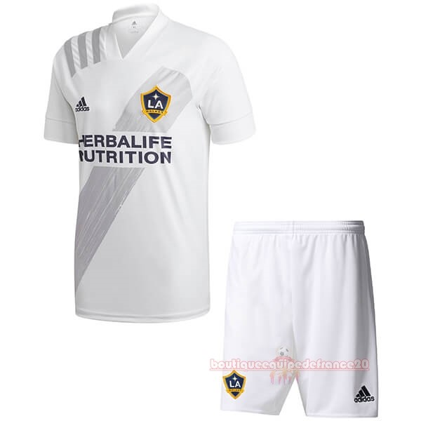 Maillot Sport Domicile Ensemble Enfant Los Angeles Galaxy 2020 2021 Blanc