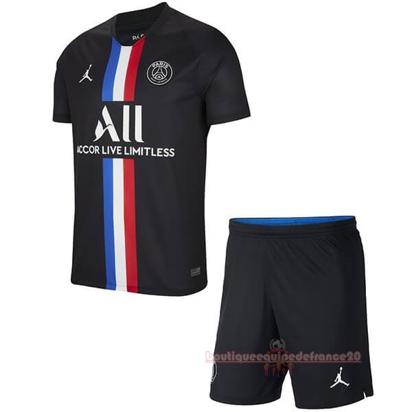 Maillot Sport Third Ensemble Enfant Paris Saint Germain 2019 2020 Noir