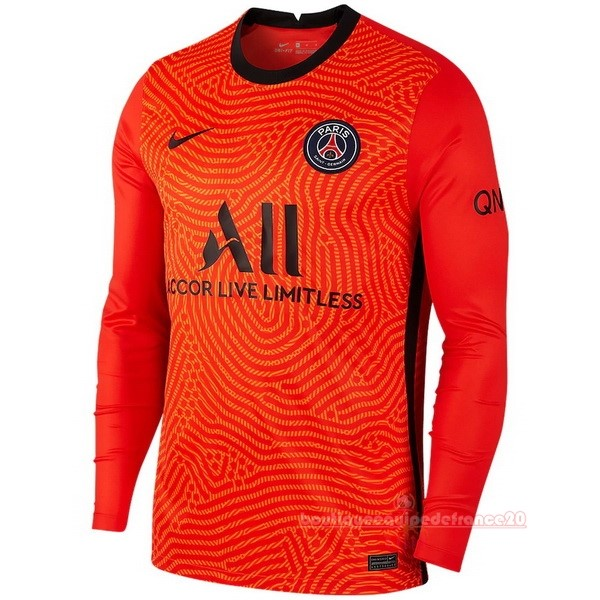 Maillot Sport Manches Longues Gardien Paris Saint Germain 2020 2021 Orange