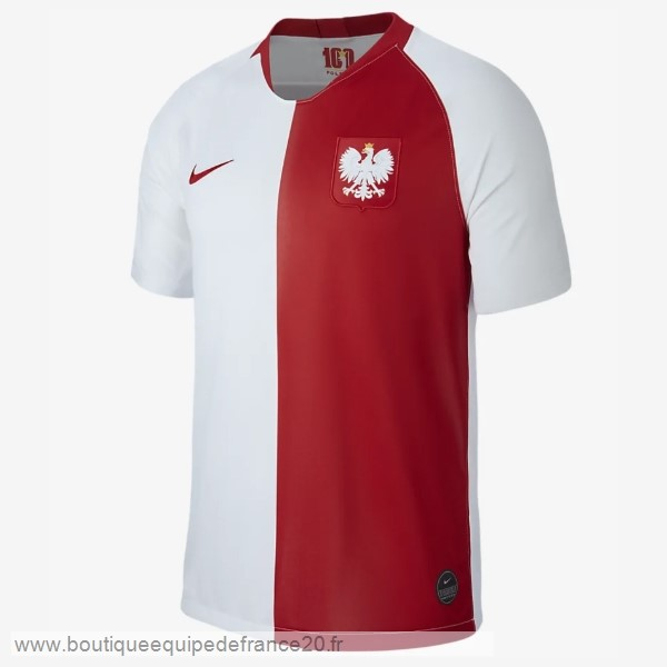 Maillot Sport Maillot Polonia 100th Blanc Rouge