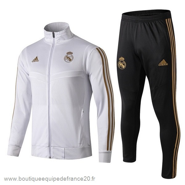 Maillot Sport Survêtements Enfant Real Madrid 2019 2020 Blanc Jaune