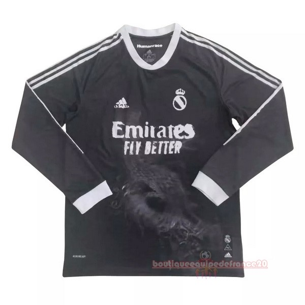 Maillot Sport Human Race Manga Larga Real Madrid 2020 2021 Noir