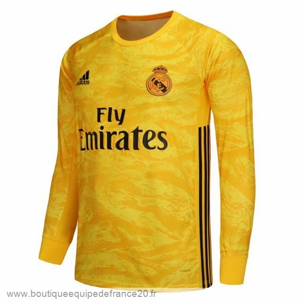 Maillot Sport Domicile Manches Longues Gardien Real Madrid 2019 2020 Jaune