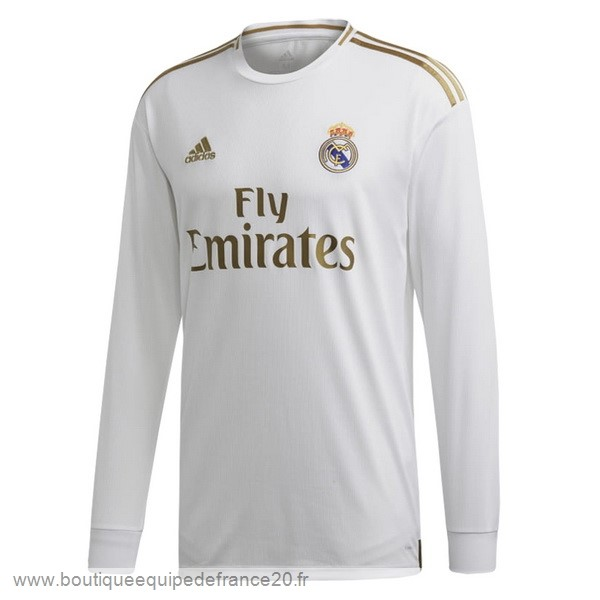 Maillot Sport Domicile Manches Longues Real Madrid 2019 2020 Blanc