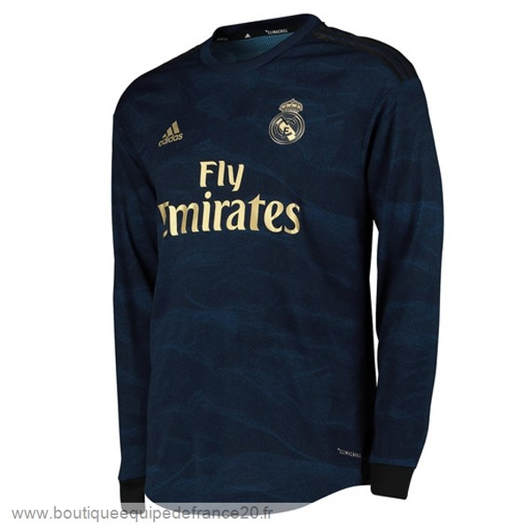 Maillot Sport Exterieur Manches Longues Real Madrid 2019 2020 Bleu