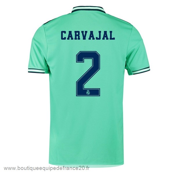 Maillot Sport NO.2 Carvajal Third Maillot Real Madrid 2019 2020 Vert