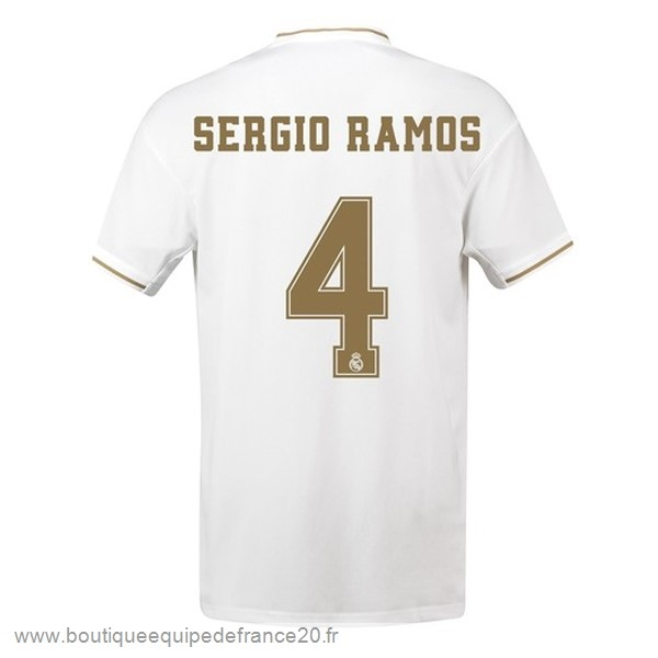 Maillot Sport NO.4 Sergio Ramos Domicile Maillot Real Madrid 2019 2020 Blanc